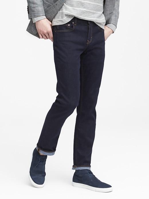 Slim Rapid Movement Denim Stay Blue Jean
