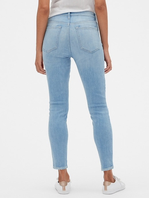High Rise Distressed Legging Jeans