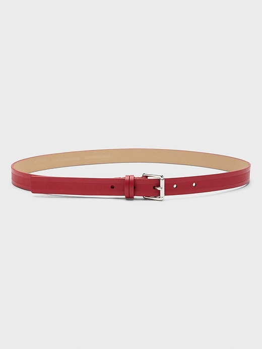 Saffiano Inlay Belt