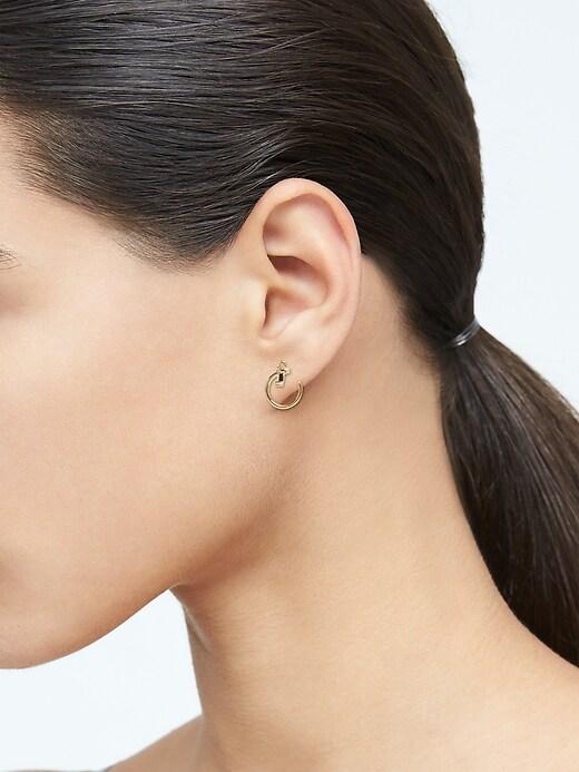 Delicate Pearl Huggie Hoop Earrings