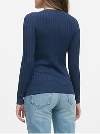 Washable Merino Ribbed Sweater