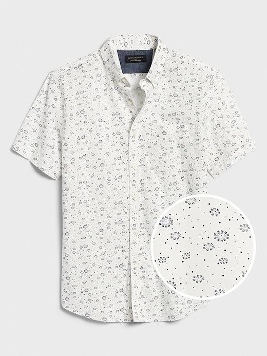 Print Slim-Fit Soft Wash Shirt