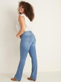 Mid-Rise Medium-Wash Kicker Boot-Cut Jeans for Women