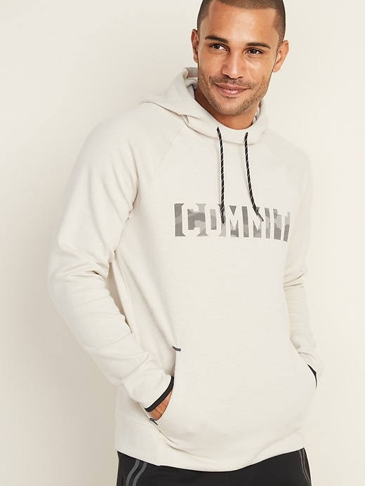 Graphic Dynamic Fleece Pullover Hoodie for Men