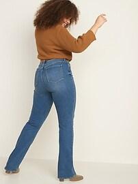 High-Waisted Kicker Boot-Cut Jeans For Women