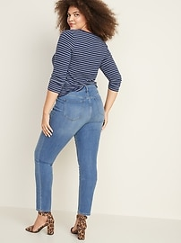Mid-Rise Power Slim Straight Jeans for Women