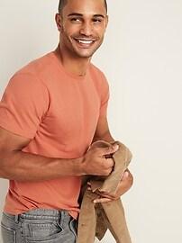 T-shirt ras du cou au fini soyeux, coupe parfaite pour homme