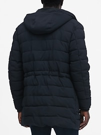 Water-Repellent Quilted Parka