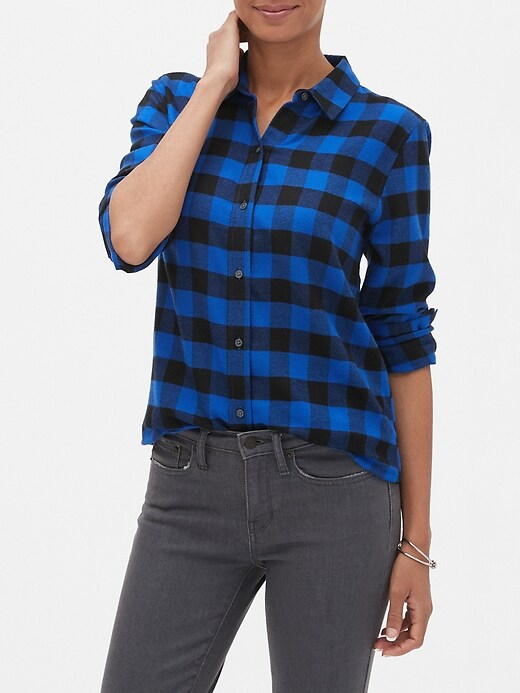 Petite Boyfriend Flannel Shirt