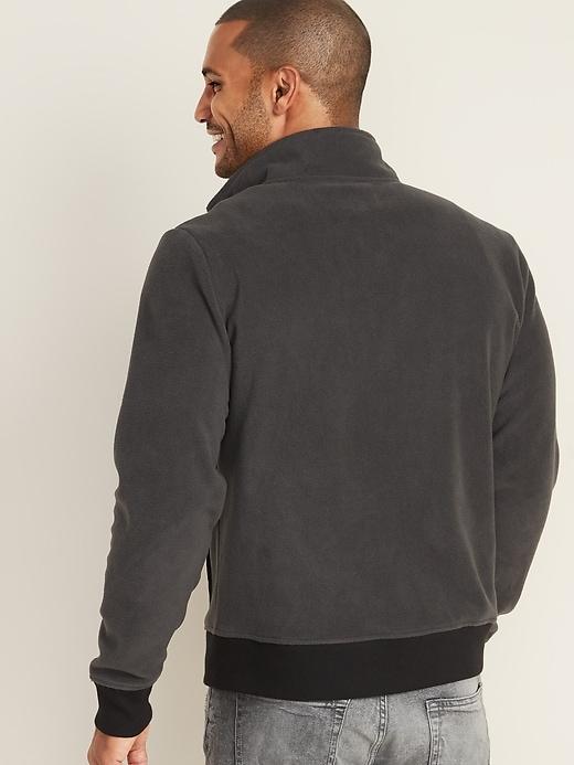 Micro Performance Fleece Chest-Pocket Zip Jacket for Men