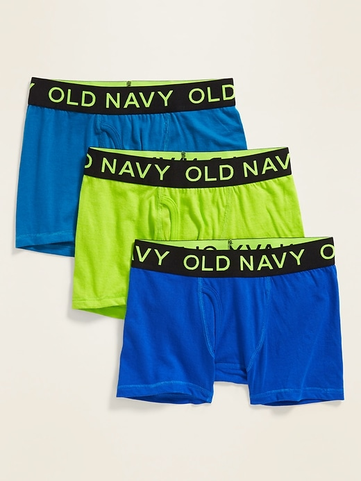 Go-Dry Boxer-Brief 3-Pack for Boys