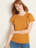 OldNavy.com deals on Old Navy Lantern-Sleeve Jersey-Knit Top for Women
