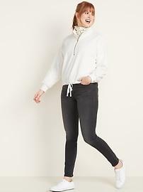Mock-Neck Plush-Knit 1/2-Zip Pullover for Women