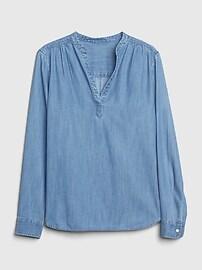 Denim Popover Shirt in TENCEL&#153