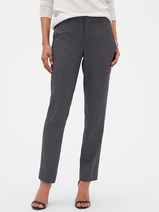 Washable Ryan Houndstooth Slim Straight Pant