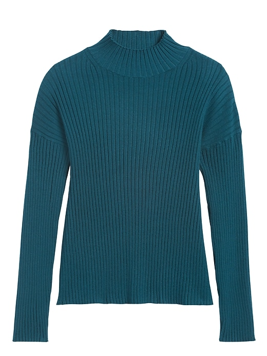 Ribbed Turtleneck Sweater Top
