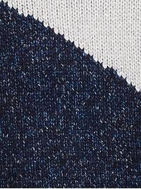 Petite Metallic Color-Block Cropped Sweater