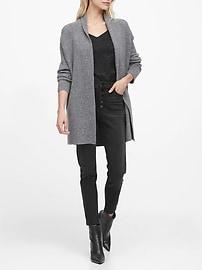 Merino-Blend Long Cardigan Sweater