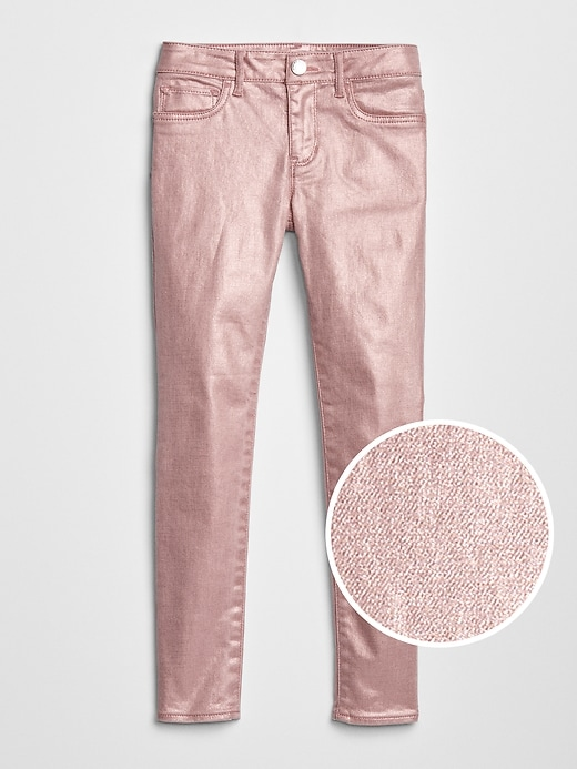 Kids Foil Jeggings with Stretch
