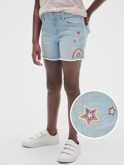 Kids Embroidered Midi Shorts
