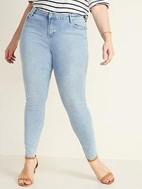 Mid-Rise Acid-Wash Raw-Edge Rockstar Jeans for Women