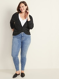 High-Waisted Built-In Warm Rockstar Jeans for Women