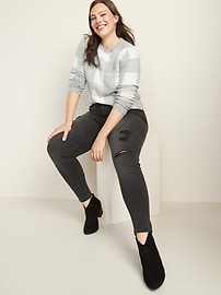 Mid-Rise Distressed Rockstar Jeans for Women