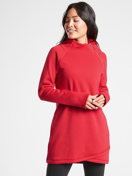Cozy Karma Asym Sweatshirt Dress