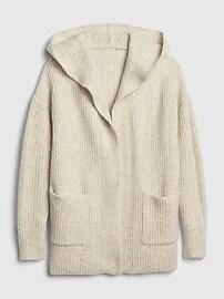 Ribbed Longline Cardigan Sweater