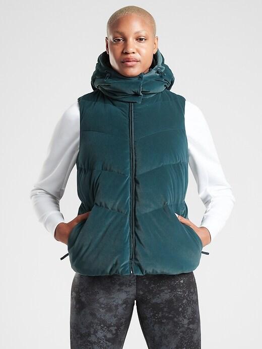 Lofty Velvet Down Vest
