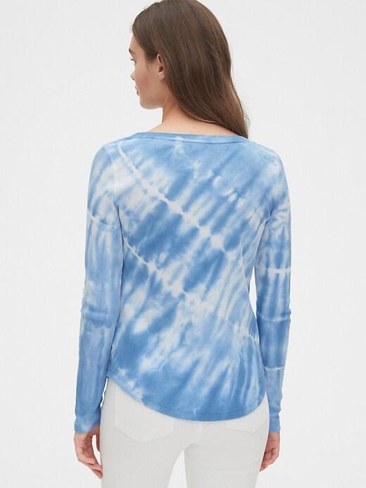 Tie-Dye Waffle Scoopneck T-Shirt