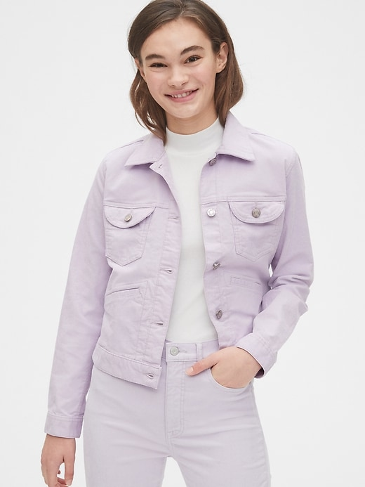 Cord Icon Cropped Jacket