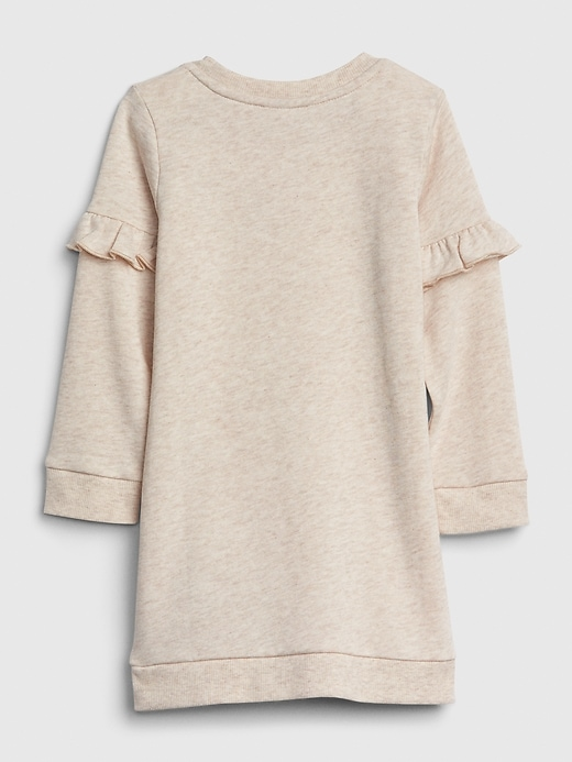 Toddler Ruffle Star Sweatshirt Dress