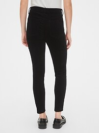 High Rise Velvet True Skinny Ankle Jeans with Secret Smoothing Pockets