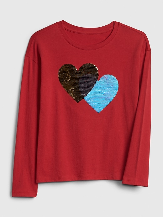 Kids Holiday Flippy Sequin Graphic T-shirt