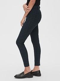 Plaid Curvy Skinny Ankle Pants