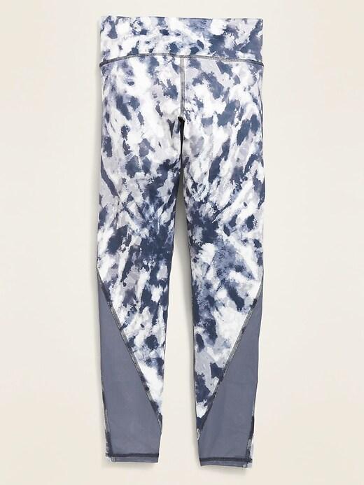 Mid-Rise Go-Dry Tie-Dye Elevate Leggings for Girls