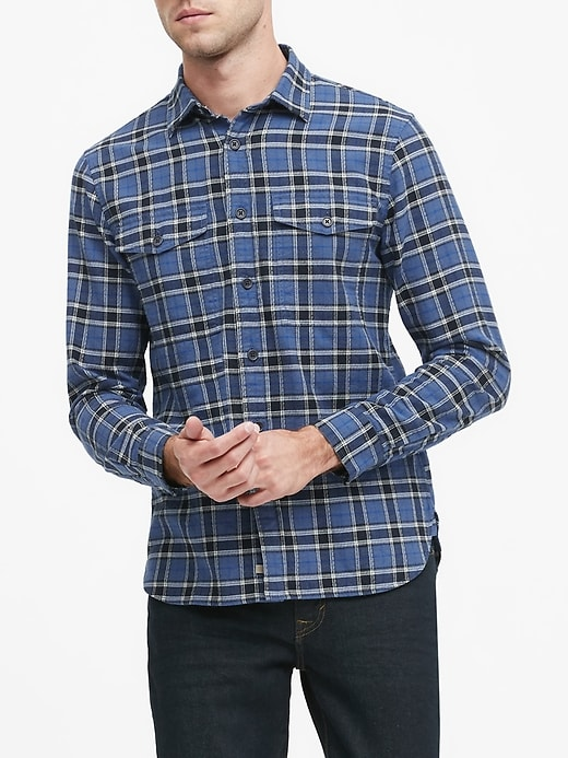 Heritage Slim-Fit Flannel Shirt Jacket