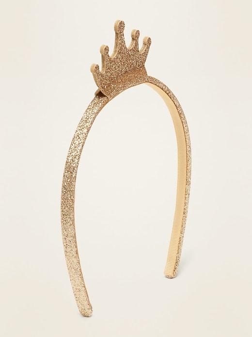 Icon-Applique Glitter Headband For Girls
