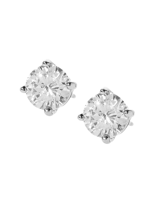 Small Cubic Zirconia Stud Earrings