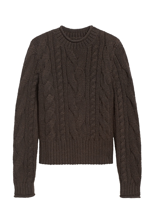 Petite Cable-Knit Cropped Sweater