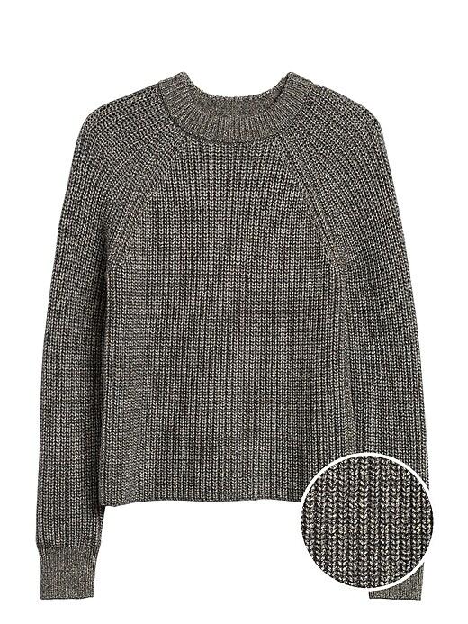 Chunky Metallic Cropped Sweater