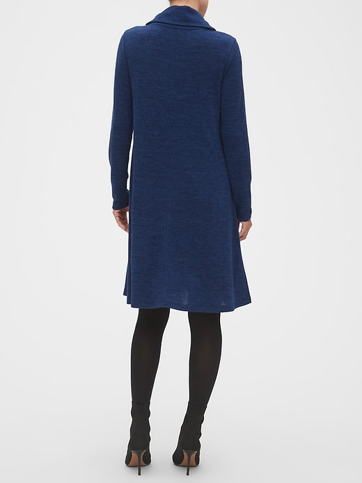 Cozy Cowl-Neck Fit-and-Flare Sweater Dress