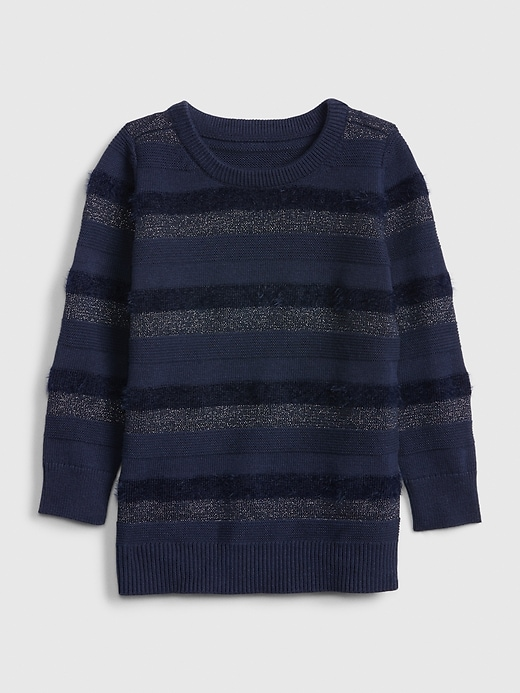 Toddler Fuzzy Metallic Sweater