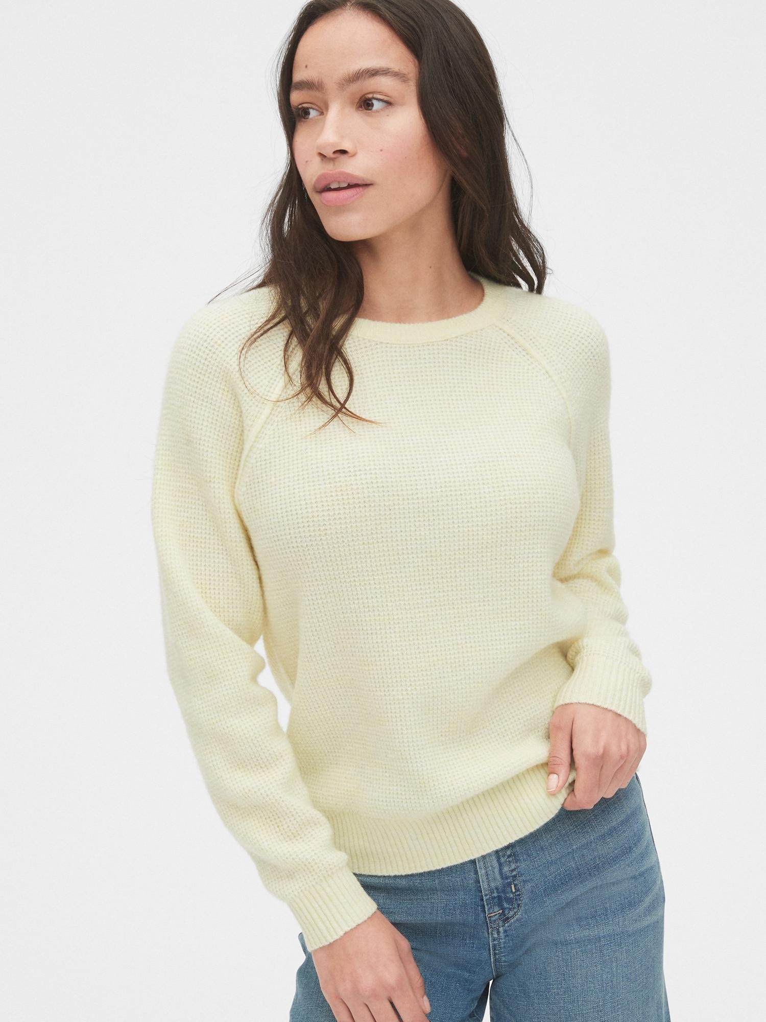 ワッフルニットセーター