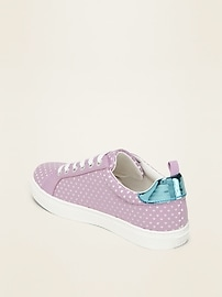 Perforated Lace-Up Sneakers for Girls
