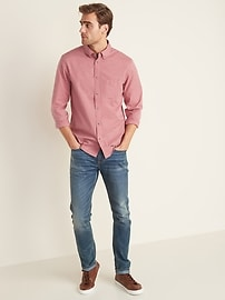 Slim-Fit Poplin Shirt for Men
