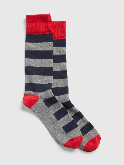 Colorblock Stripe Crew Socks