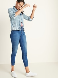 High-Waisted Button-Fly Rockstar Jeans for Women