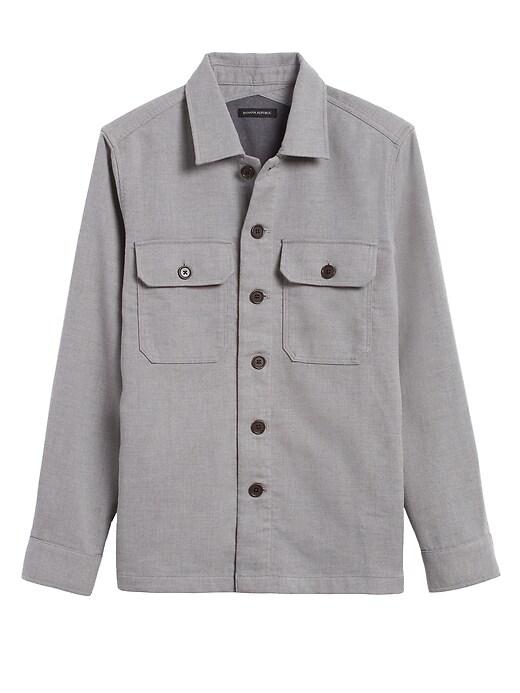 Veste-chemise à double tissage, coupe étroite